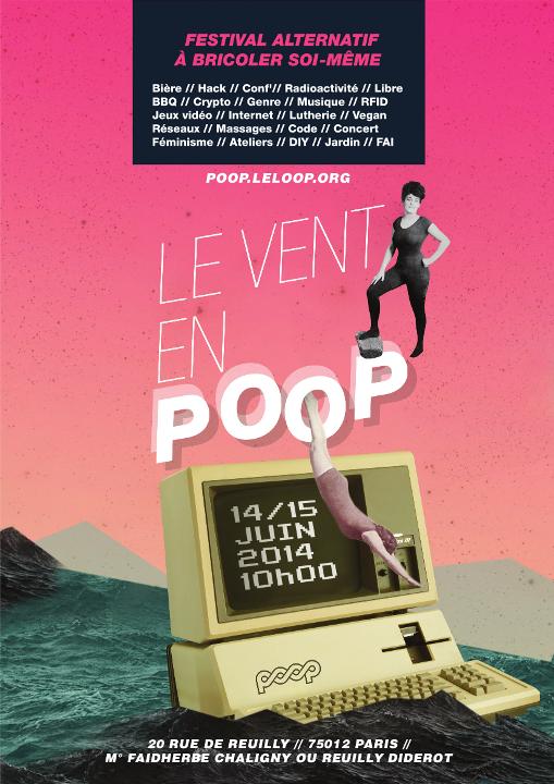 Le vent en *POOP* festival à bricoler soi-même 14 et 15 Juin PARIS