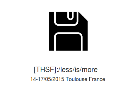Less is more: THSF 14-17 Mai @Toulouse