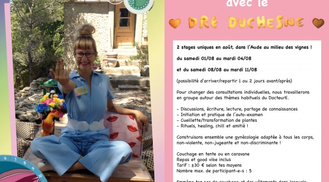 Ateliers DIY Gyneco avec Poussy Draama (Aout @la campagne)